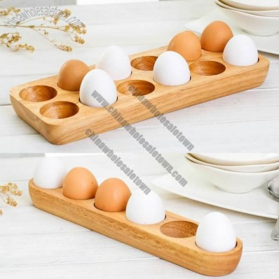 Wooden 12/6-Egg Storage Container