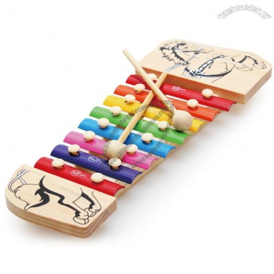 Wooden Animal&Tone Musical Instrument Kid Educational Toy Musical Xylophone