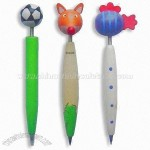 Wooden Ballpoint Pen with Animal-shaped Top