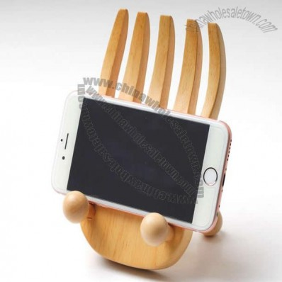 Wooden BigFoot Cell Phone Holder