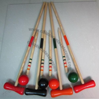 Wooden Bowling - Croquet Set