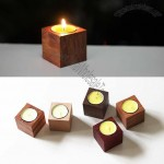 Wooden Candle Holder Set of 5