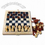 Wooden Chess Set with Size of 19 x 9.9 x 3.5cm