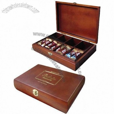 Wooden Chocolate Box with Semi-glossy Finish
