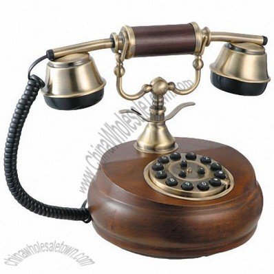 Wooden Classic Telephone