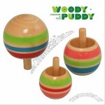 Wooden Color Gyro - Spinning Top