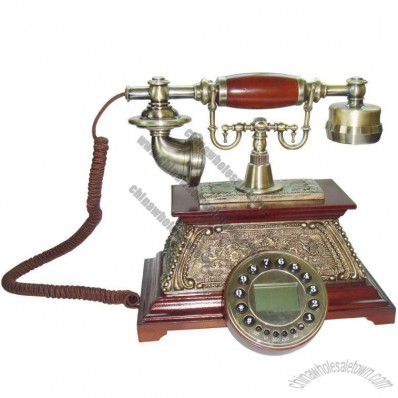 Wooden Conventional Antique Telephone