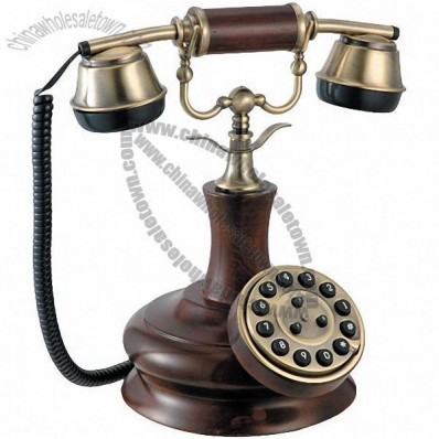 Wooden Decorative Telephone