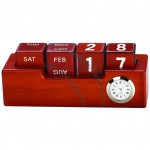 Wooden Desk Clock with DIY Calendar