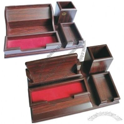 Wooden Desk Organizer for Business Office