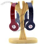 Wooden Double Earphone Stand