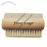 Wooden Double Side Bristle Nail Cleanning Brush