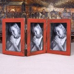 Wooden Folding Photo Frame