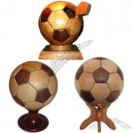 Wooden Football Craft As Unique Souvenir for World Cup Games
