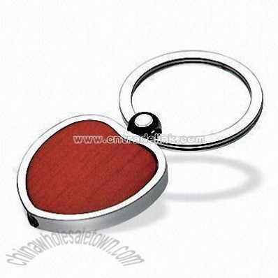 Wooden Heart Love Keychain