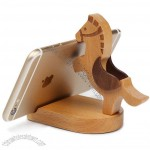 Wooden Horse Smart phone Stand Holder with Coins Slot