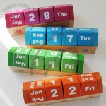 Wooden House Shaped Perpetual Calendar
