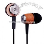 Wooden MP3 Earphone