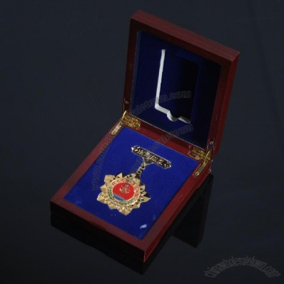 Wooden Memorial Badges Box