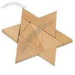 Wooden Mind Bender Puzzle W/ Triangle Pieces