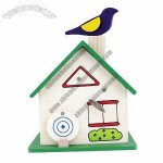 Wooden Music Money Box With House Shape, Ideal Gift For Children