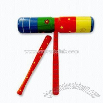 Wooden Musical Instrument Toy Flute