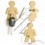 Wooden Naked Man Woman Magnetic Key Holders