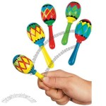 Wooden Painted Geometric Mini Maracas