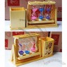 Wooden Pen Holder Glass Sand Timer