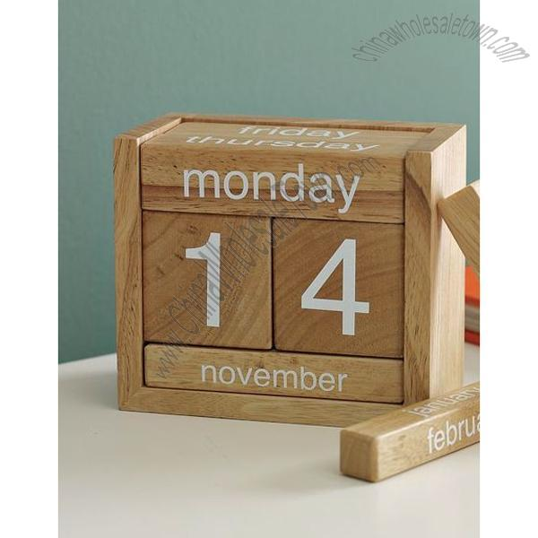 Wooden Perpetual Calendar, Wholesale China Wooden Perpetual Calendar