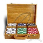Wooden Poker Chip Set