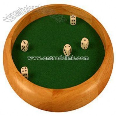 Wooden Round Dice Tray