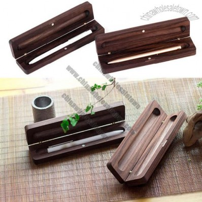 Wooden Single Pen Pencil Protective Box Case