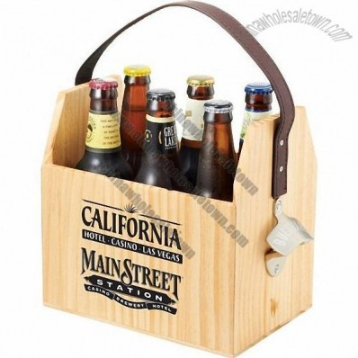 Wooden Six Pack Bottle Carrier