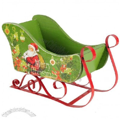 Wooden Sled Christmas Decoration