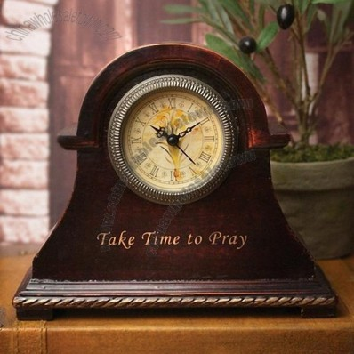 Wooden Time To Pray Clock