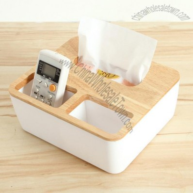 Wooden Tissues Box and Desk Organizer