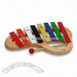 Wooden Xylophone Toy with 8-tone Metal Phone