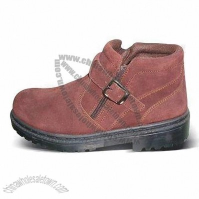 Work Shoes/Hiking Boots in 36 to 46 Size with Cow Suede Upper and TPR Injection Outsole