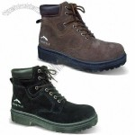 Work Shoes/Hiking Boots with Cow Suede Upper and TPR Injection Outsole