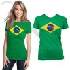 World Cup Brazil Flag Insignia Juniors Ladies T-shirt