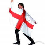World Cup England St George Wearable Flag Cape 5FT x 3FT