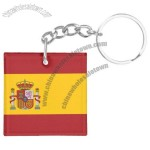 World Cup Flag Square Keychains