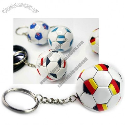 World Cup Football Keychain with National Flag Picture