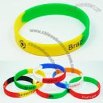 World Cup National Soccer Football Team Silicone Wristband Bracelet