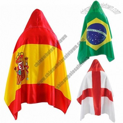 World Cup Soccer Fans Flag Hooded Cape