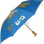 World automatic open umbrella with world map imprint