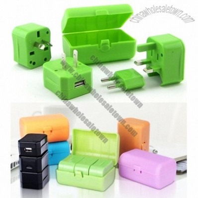 World travel Universal Adapter Electric Plug with 1 USB HUB