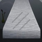 Woven Vinyl Table Runner for Wedding Party, Supply Professional Decoration