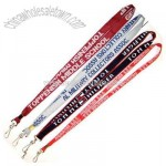 Woven logo lanyard made of polyester